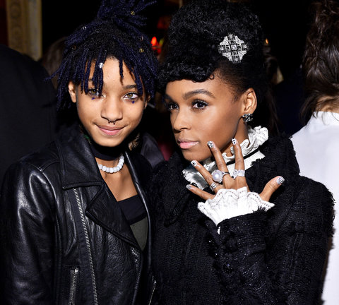 Janelle Monae and Willow Smith