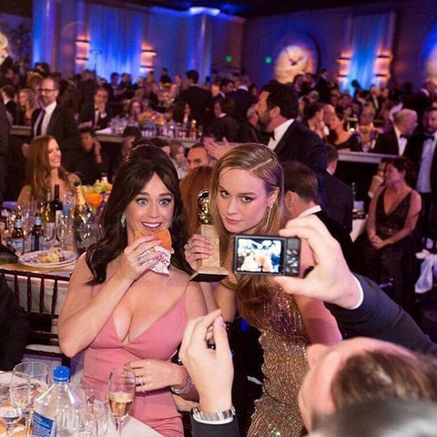 Brie Larson and Katy Perry