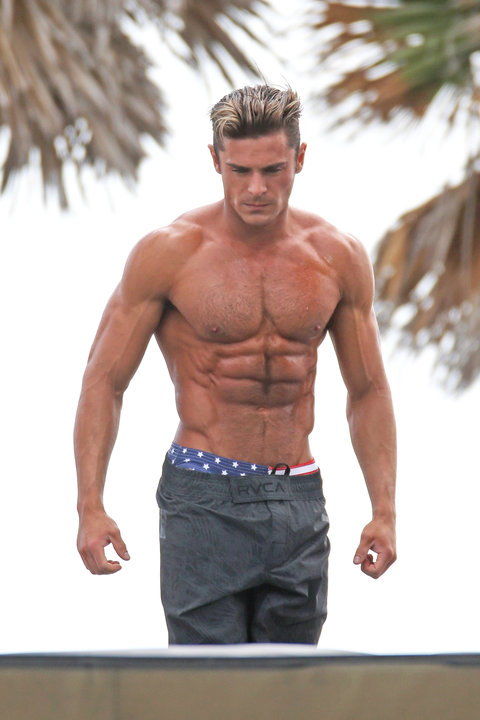See Zac Efron S Abs On Baywatch Instyle Com