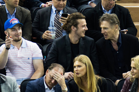 Liam Neeson with sons Embed