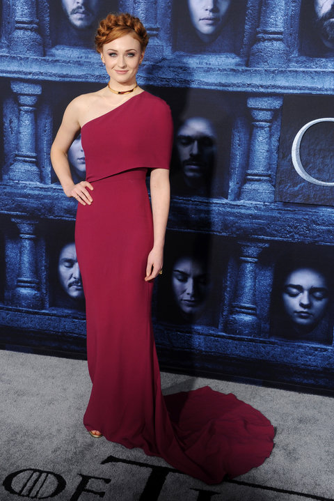 "arrives at the premiere of HBO's ""Game Of Thrones"" Season 6 at TCL Chinese Theatre on April 10, 2016 in Hollywood, California."