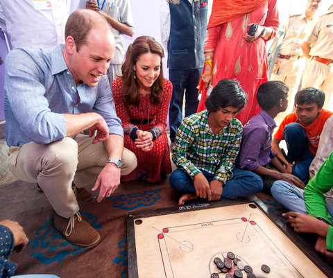 Kate Middleton and Prince William in India