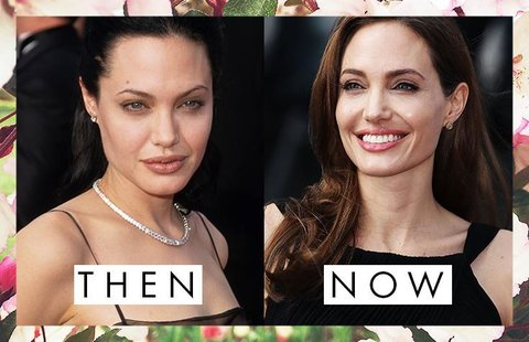 celebrity eyebrows then and now