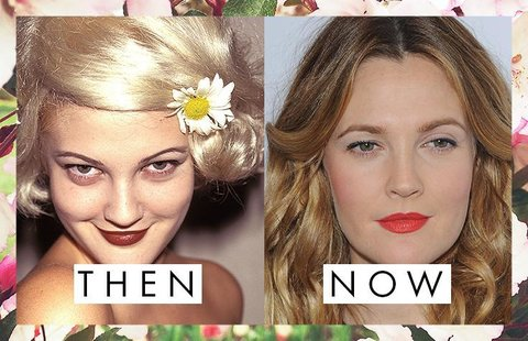 Drew Barrymore's Eyebrows Then and Now