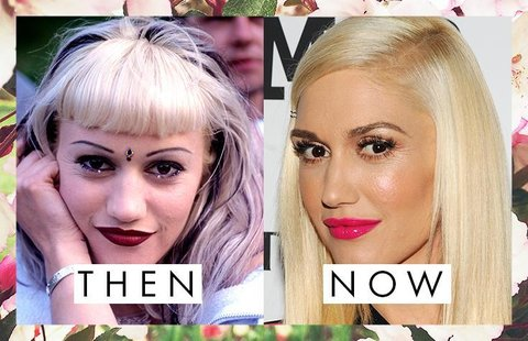 Gwen Stefani's Eyebrows Then and Now