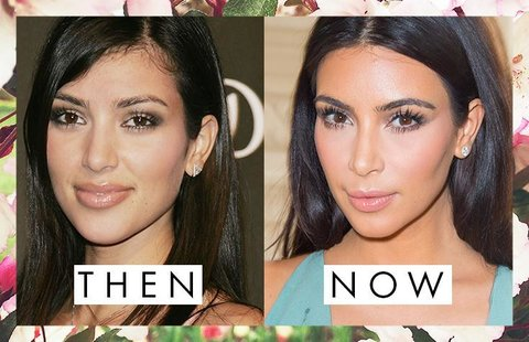 Kim Kardashian's Eyebrows Then and Now
