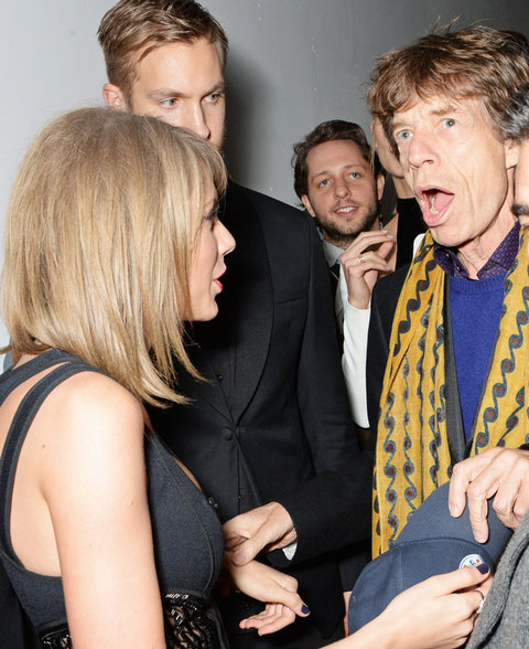 Taylor Swift, Mick Jagger, and Calvin Harris