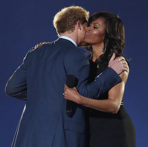 Prince Harry and Michelle Obama - Embed