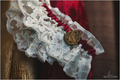 Harry Potter Themed Wedding Garter
