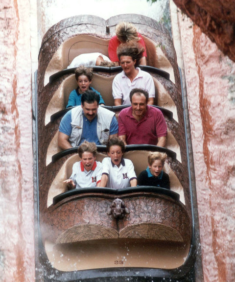 Royal Family on Splash Mountain Disney 1993