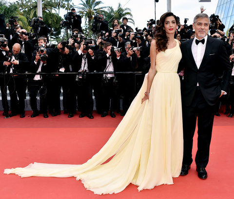 George and Amal Clooney Cannes Embed