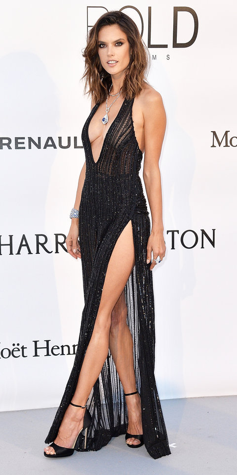 Alessandra Ambrosio's Red Carpet Style