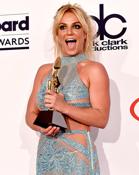LAS VEGAS, NV - MAY 22:  Honoree Britney Spears, recipient of the Millennium Award, poses in the press room during the 2016 Billboard Music Awards at T-Mobile Arena on May 22, 2016 in Las Vegas, Nevada.  (Photo by David Becker/Getty Images)