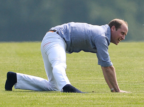Prince WIlliam - white pants yoga - embed - 2