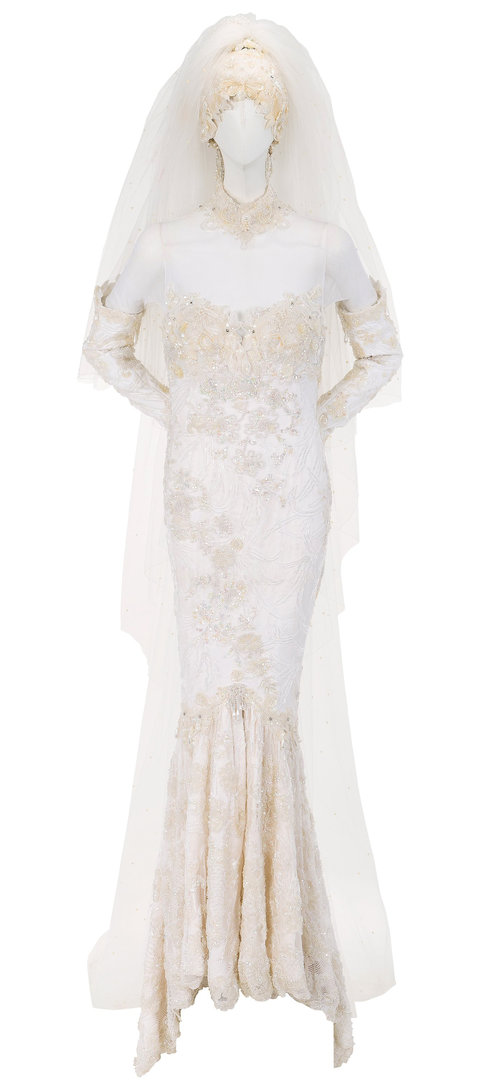 Whitney Houston Wedding Dress Auction Embed 1