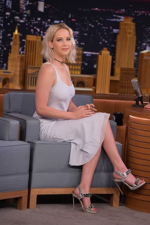 NEW YORK, NY - MAY 23:  Jennifer Lawrence Visits  The Tonight Show Starring Jimmy Fallon  on May 23, 2016 in New York City.  (Photo by Theo Wargo/Getty Images)