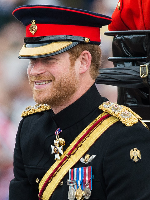 LONDON, ENGLAND - JUNE 11:  Prince Harry rides by carriage during the Trooping the Colour, this year marking the Queen's official 90th birthday at The Mall on June 11, 2016 in London, England. The ceremony is Queen Elizabeth II's annual birthday parade an