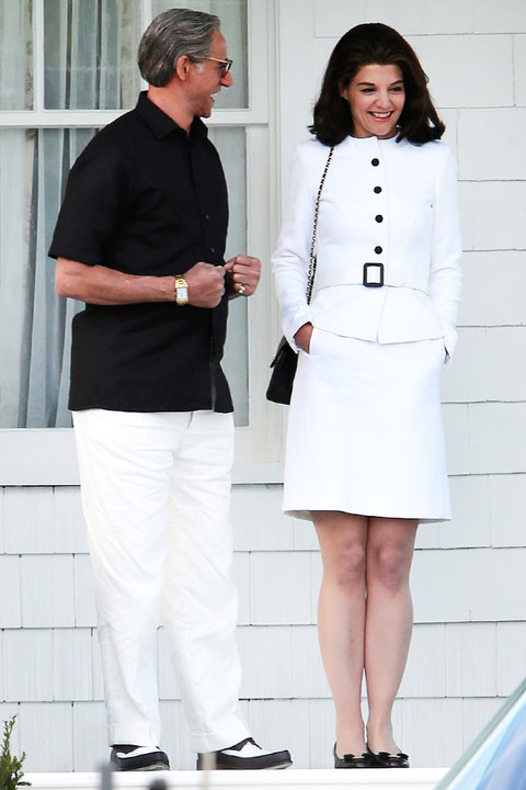 Katie Holmes on Set The Kennedys - Embed 2016