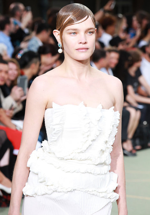 PARIS, FRANCE - JUNE 24:  Natalia Vodianova walks the runway during the Givenchy Menswear Spring/Summer 2017 show as part of Paris Fashion Week on June 24, 2016 in Paris, France.  (Photo by Antonio de Moraes Barros Filho/WireImage)