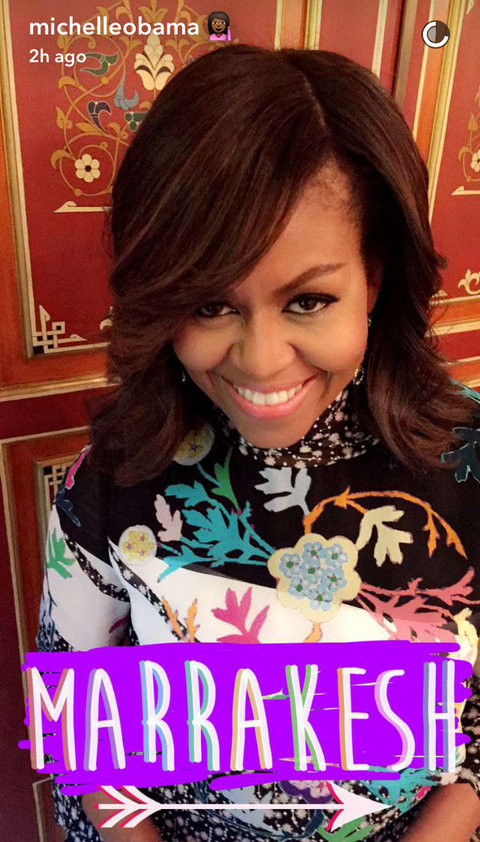 Michelle Obama Morocco Snapchats - Embed 1