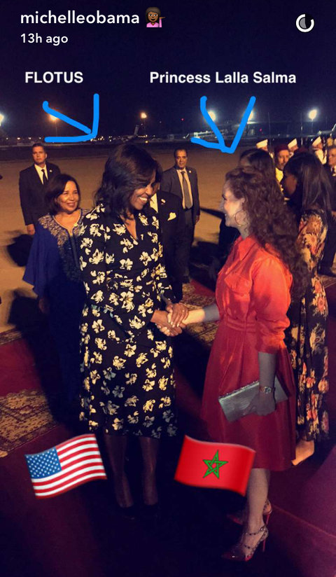 Michelle Obama Morocco Snapchats - Embed 2