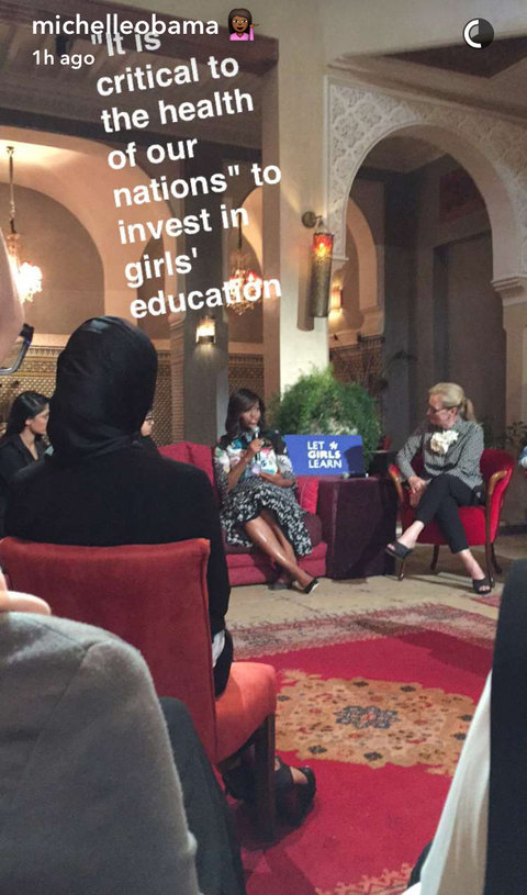 Michelle Obama Morocco Snapchats - Embed 4