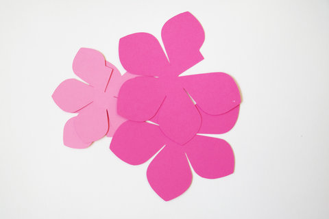 Paper Flower Centerpieces Flat Flower Embed
