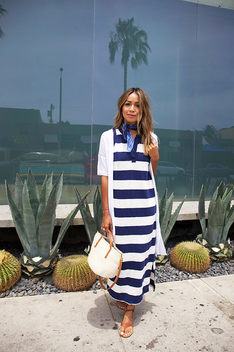 Gap Sincerely Jules Striped Maxi Dress