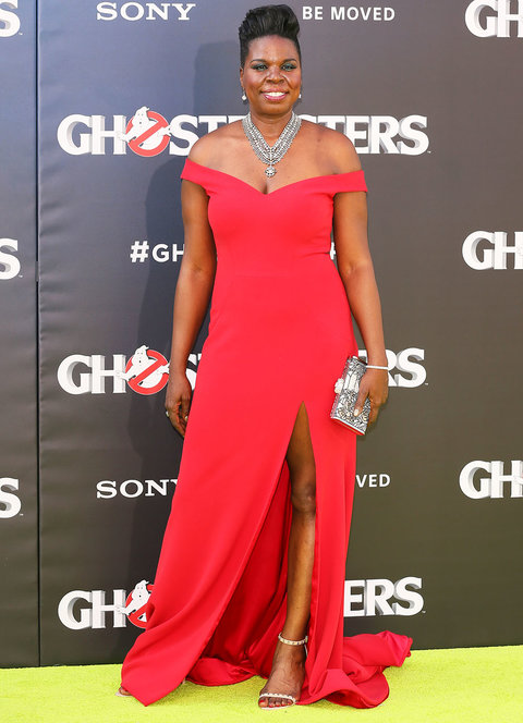 HOLLYWOOD, CA - JULY 09: Leslie Jones attends the premiere of Sony Pictures' 'Ghostbusters' on July 9, 2016 in Hollywood, California.(Photo by JB Lacroix/WireImage)