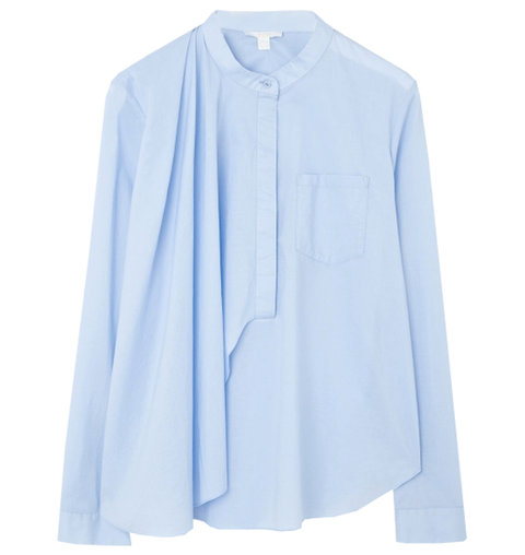 COS Grandad Collar Drape Shirt
