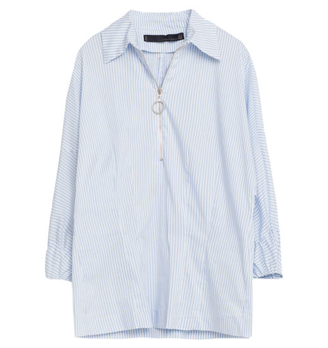 Zara Studio Zip Shirt