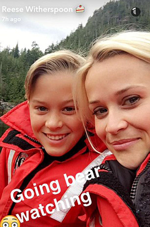 Reese Witherspoon Wild Camping with son Deacon