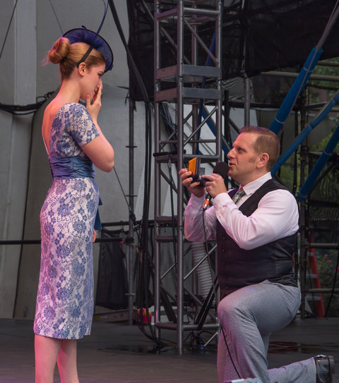 Couple Gets Engaged at Lincoln Center