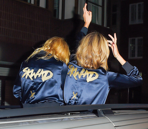 Cara Delevingne and Margot Robbie Tracksuit - Embed