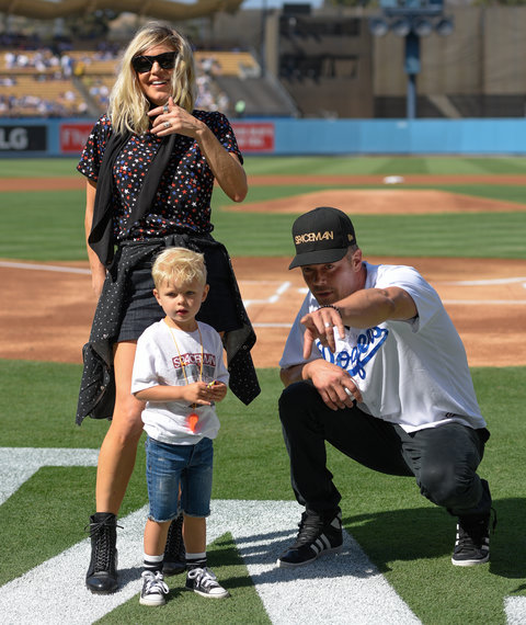 Fergie and Josh Duhamel at the Red Sox Game - Embed 1