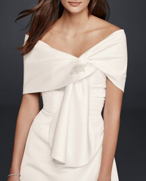Bridal coverups and scarves wedding fashion accessories for fall davids bridal satin embellished wrap junglespirit Images