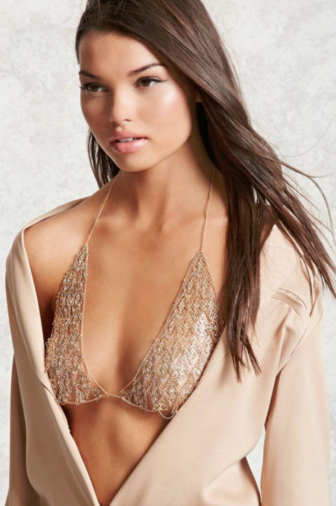 Filigree Body Chain Bra
