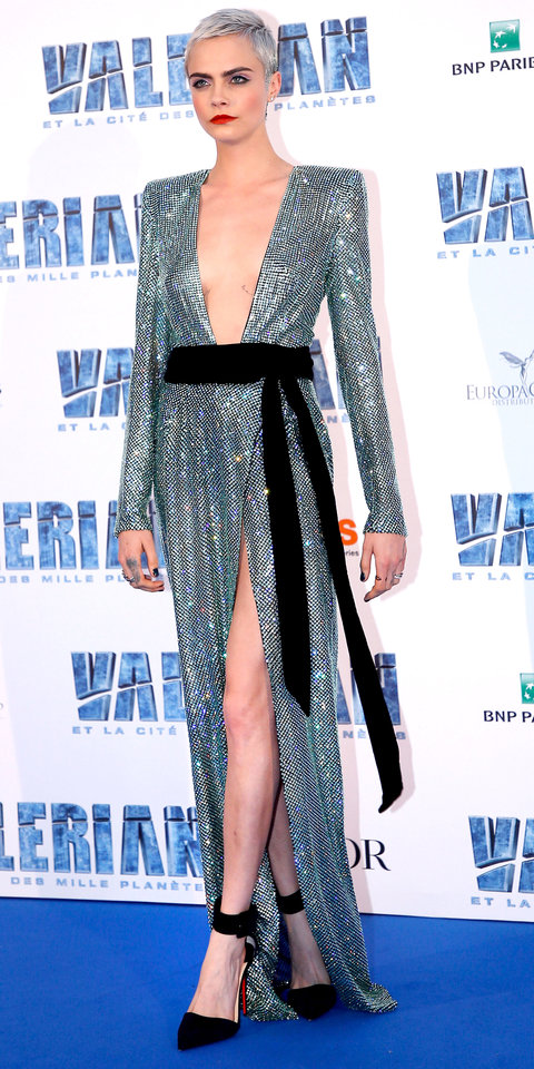 Cara Delevingne in Alexandre Vauthier Couture