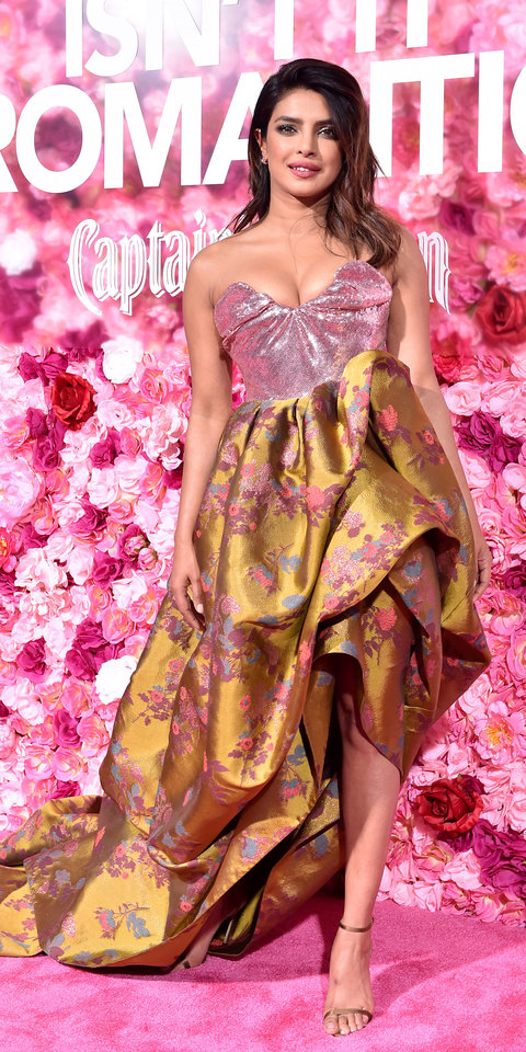 Priyanka Chopra made heads turn in a sequin Vivienne Westwood gown with floral embroidery.