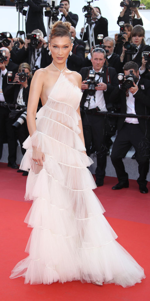Bella Hadid Shuts Down Cannes Film Festival in a Dreamy See-Through Gown | InStyle.com