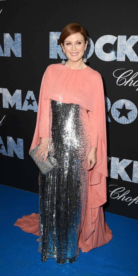 Julianne Moore dazzled in a Givenchy Haute Couture gown and cape.