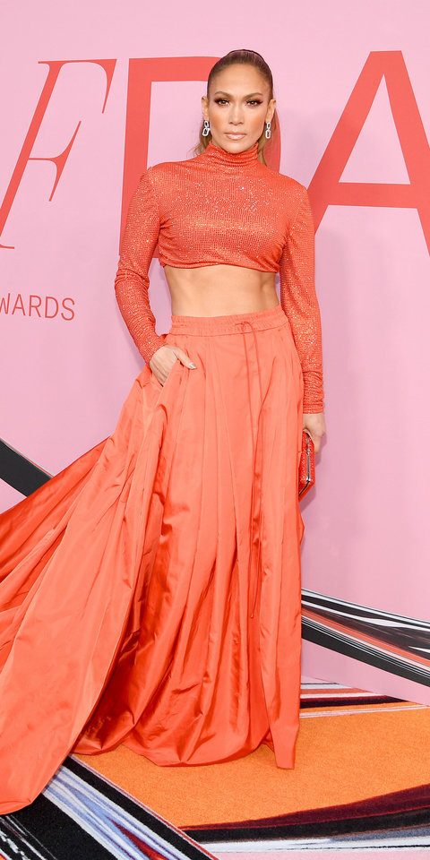 Jennifer Lopez Can't Stop Her Abs From Popping Out of Her Latest Red Carpet Look | InStyle.com