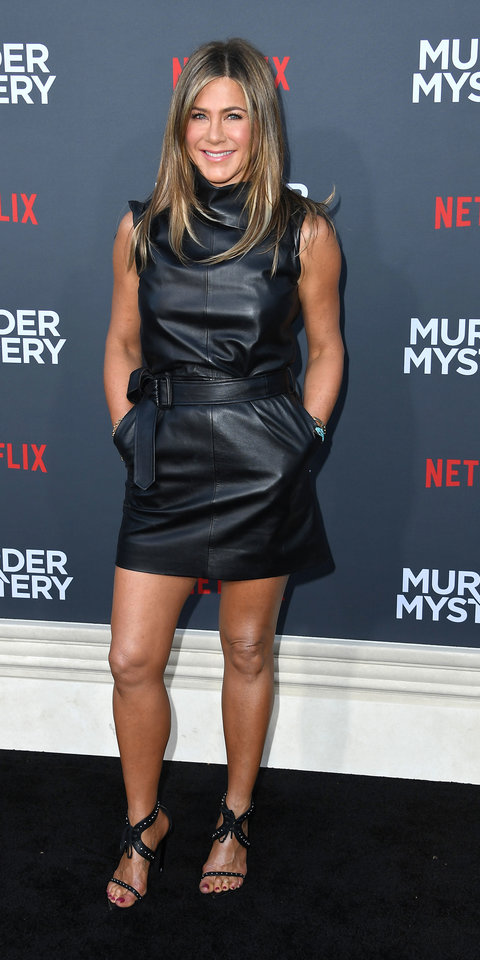 Jennifer Aniston Just Wore The Sexy Leather Dress We All -1738