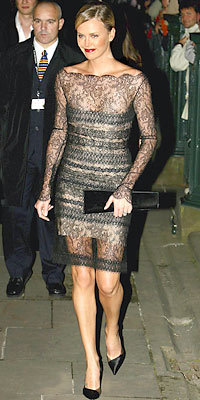 Charlize Theron in Guy Laroche