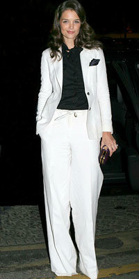 Katie Holmes in Yves Saint Laurent