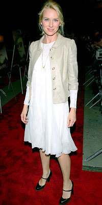 Naomi Watts in Calvin Klein and Juicy Couture