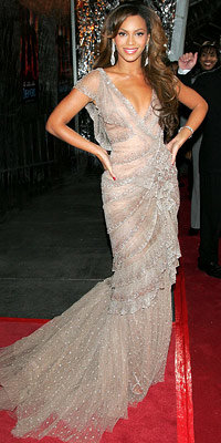Beyonce Knowles in Elie Saab