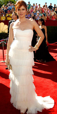 Debra Messing Tiered Gown