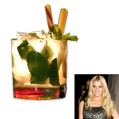 Celebrity Holiday Cocktails, Jessica Simpson