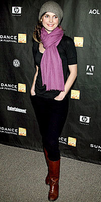 Keri Russell in Earnest Sewn jeans, James Perse, Rogan, Yigal Azroue, and A.P.C.